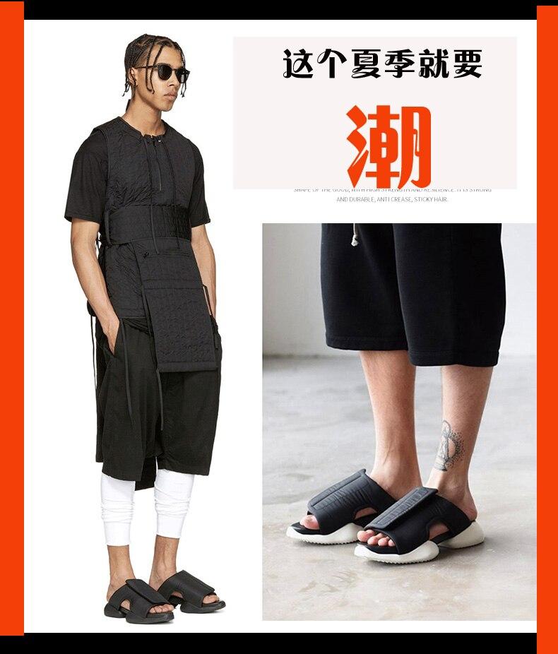 2019 Tide chaussures, pantoufles, semelles épaisses pour hommes, sandales, sandales de plage pour femmes, chaussures de loisirs pour hommes pleine taille 34-46