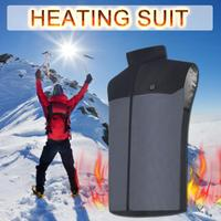 Winter USB Electric Heated Vest 5V Charging Heated Clothing for Motorcycle Snowmobile Bike Riding Hunting Golf
