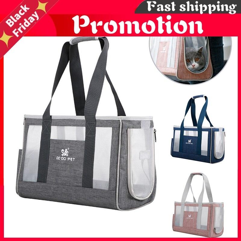 Breathable Cat Carrier Bag Cat Transporter Bag Portable Handbag Backpack Pet Carrier for Cat Dog Puppy Single Shoulder Bags