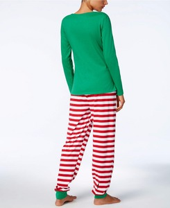 Image 4 - Family Christmas Pajamas Set Family Matching Clothes Adult Kids Pajamas set Baby Romper Xmas STOP Elfing Family Sleepwear