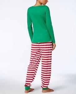 Image 4 - 가족 크리스마스 잠옷 세트 가족 일치하는 옷 성인 어린이 잠옷 세트 아기 romper 크리스마스 중지 elfing 가족 잠옷