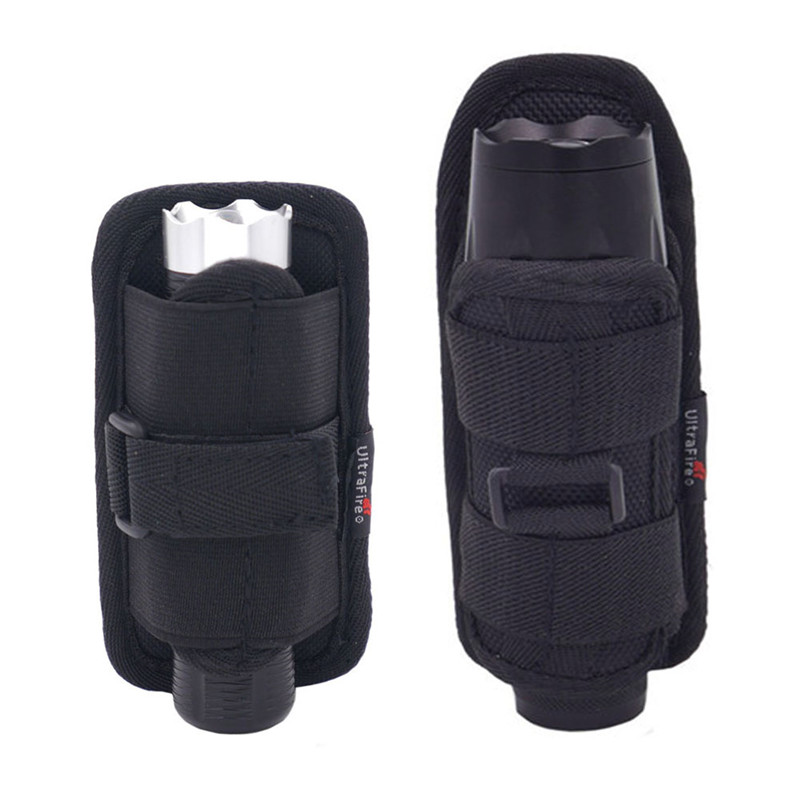 Flashlight Holster Baton Holder Nylon Duty Flashlight Holder Belt Carry Case For Tactical Flashlights *