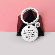 DIY Key Chains Accessories Father's Day Birthday Christmas Gift Keychain Keyring Keychain Men Women Metal Keyfob Be My Hero(China)