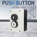 Push Button Switch Box Up/down Arrows 2 Ways Hoist Roller Door Lorry Tail Lift Control With Protective Box Double Insulated