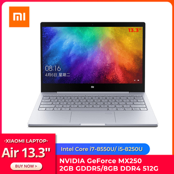 "Original Xiaomi Ultraslim Laptop Air 13.3"" Intel i5/i7 Quad Core 8GB DDR4 512GB PCle SSD MX250 2GB Fingerprint Recognize Home PC 1"