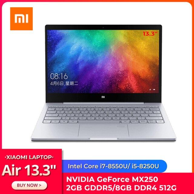 "Original Xiaomi Ultraslim Laptop Air 13.3"" Intel i5/i7 Quad Core 8GB DDR4 512GB PCle SSD MX250 2GB Fingerprint Recognize Home PC 1"