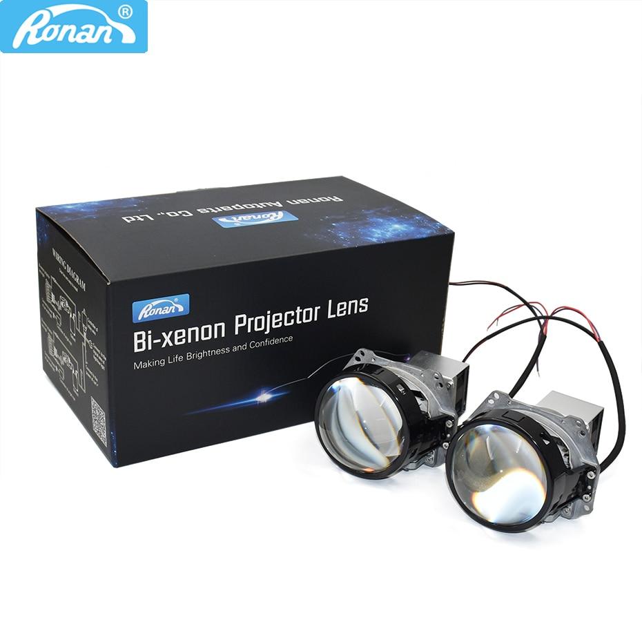 Ronan 3.0 Inch HD Bi Led Projector Lens Cooling Fan 32w 6000k 3200lm For Car Headlight Upgrade Retrofit
