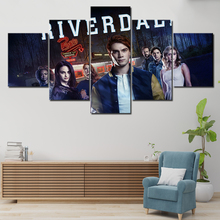 Canvas Painting 5 Pieces Blue Wall Art Picture Riverdale Poster For Living Room Large Prints Paintings Quadros Decor
