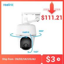 Reolink cámara de seguridad inalámbrica con batería para exteriores, cámara de seguridad interior con WiFi, Argus PT 1080P