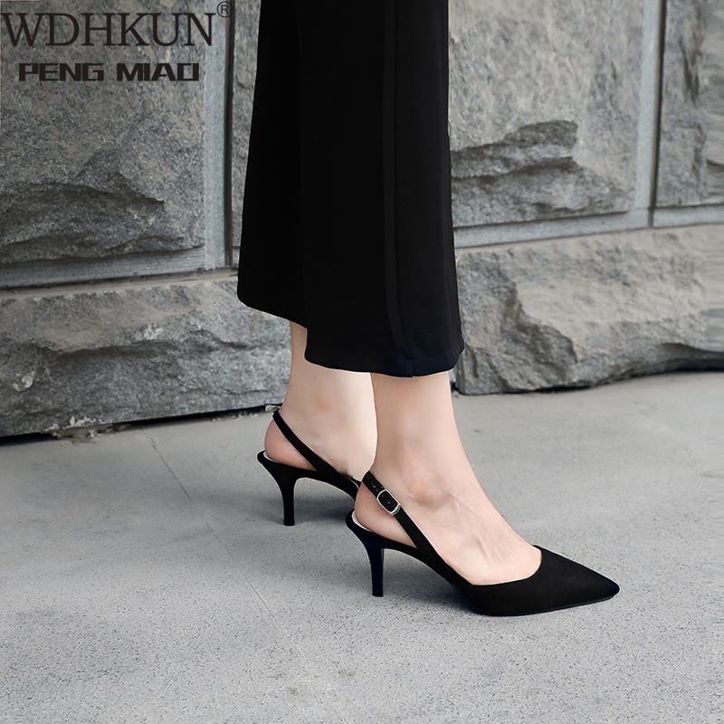 2020 Summer New Women's Sandals Korean Fine With 6 Cm Pointed Wild High Heels Comfortable Simple Hollow Women's Shoes