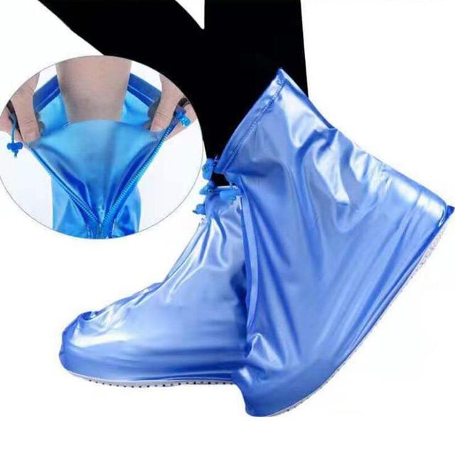 2020 nuevos zapatos de lluvia al aire libre botas cubiertas impermeables antideslizantes Overshoes Galoshes viaje para hombres mujeres niños