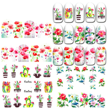 1 PC 2021 NEW DESIGN NAIL ART BEAUTY WATER STICKER DECAL SLIDER DIY FLOWER COLORFUL FLOWER TULIP NETHERLANDS HOLLAND