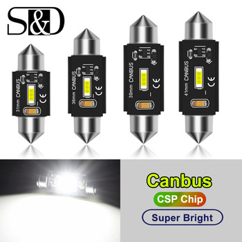 C5W LED CANBUS C10W led bulb Festoon 31mm 36mm 39mm 41mm CSP Car Interior Dome Lamp License Plate Reading Light White 12V 1