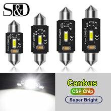 Bombilla LED CANBUS PARA Interior DE COCHE CSP, luz blanca de lectura para matrícula, C5W C10W, 31mm 36mm 39mm 41mm, 12V