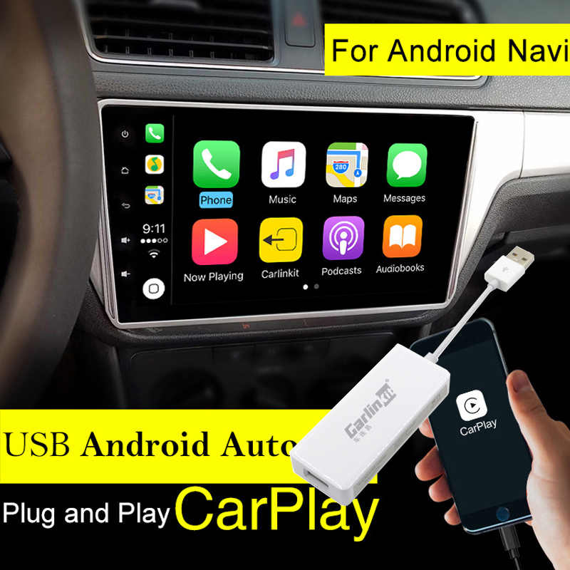 Carlinkit USB Apple Carplay Dongle for Android Auto iPhone iOS12 Carplay Support Android/MTK WinCE system Car Navigation Player