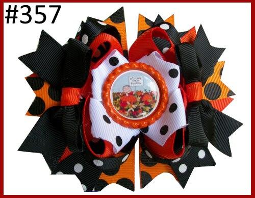 Free Shipping 10pcs Halloween Boutique Hair Bows Thanksgiving Hair Bows Fall Hair Bows Turkey Hair Clip Ghost Bows