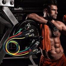 17Pcs fasce di resistenza Set Expander Yoga esercizio Fitness tubi di gomma elastico allenamento palestre a casa allenamento corda elastica