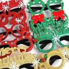 1Pc Christmas Eyeglasses frame photo Kids costume props Merry christmas glasses 2020 New Year Natal navidad decoration