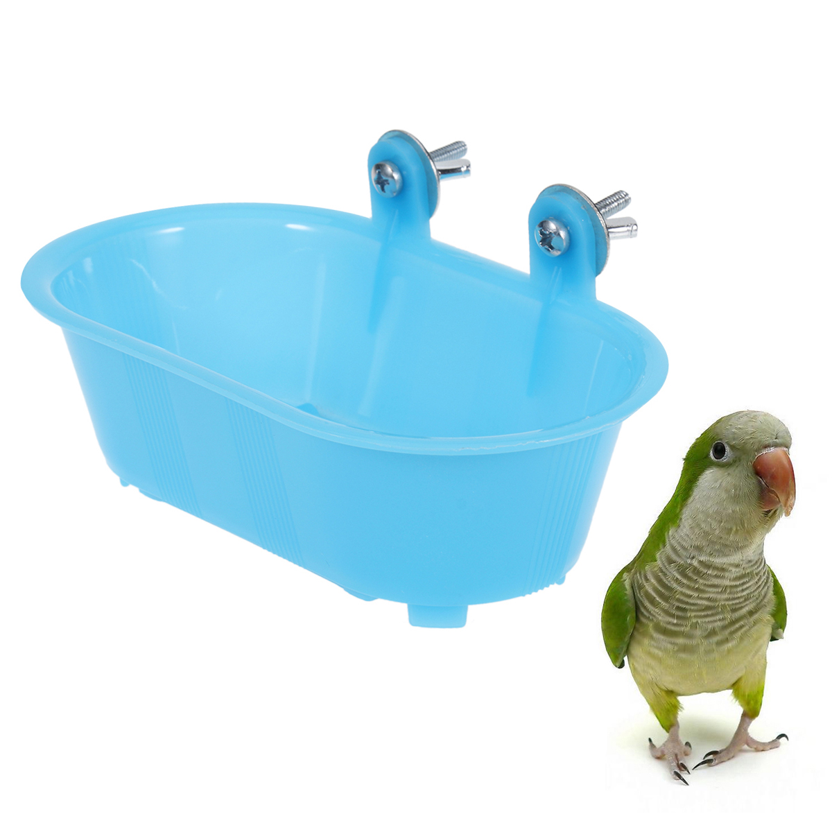 Bathing Tub Toy Parrot Shower Pool Bird Bath Tub Cleaning Tool With Bottom Mirror