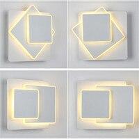 3 camadas 16 w nordic rotativa led lâmpada de parede moderna acrílico multi-camada de luz de parede sala de estar quarto cabeceira lâmpada de fundo novo