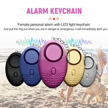 Personal Security Alarm Keychain Safety Emergency Alarm For Women Kids Girl Self Defense Electronic Device As Bag Decoration