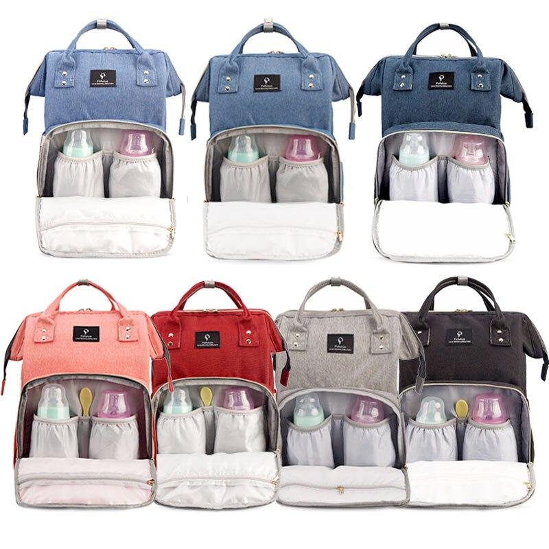 H516dcecaff384d8f8a2b9df3b44141770 Diaper Bag With USB Interface Large Capacity Travel Backpack Nursing Handbag Waterproof Nappy Bag Kits Mummy Maternity Baby Bag
