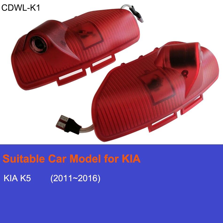 For KIA Optima K5 LED Car Door Projector Light Luces Para Auto Welcome Interior Laser Logo Lights Accessories Luz Coche Carro