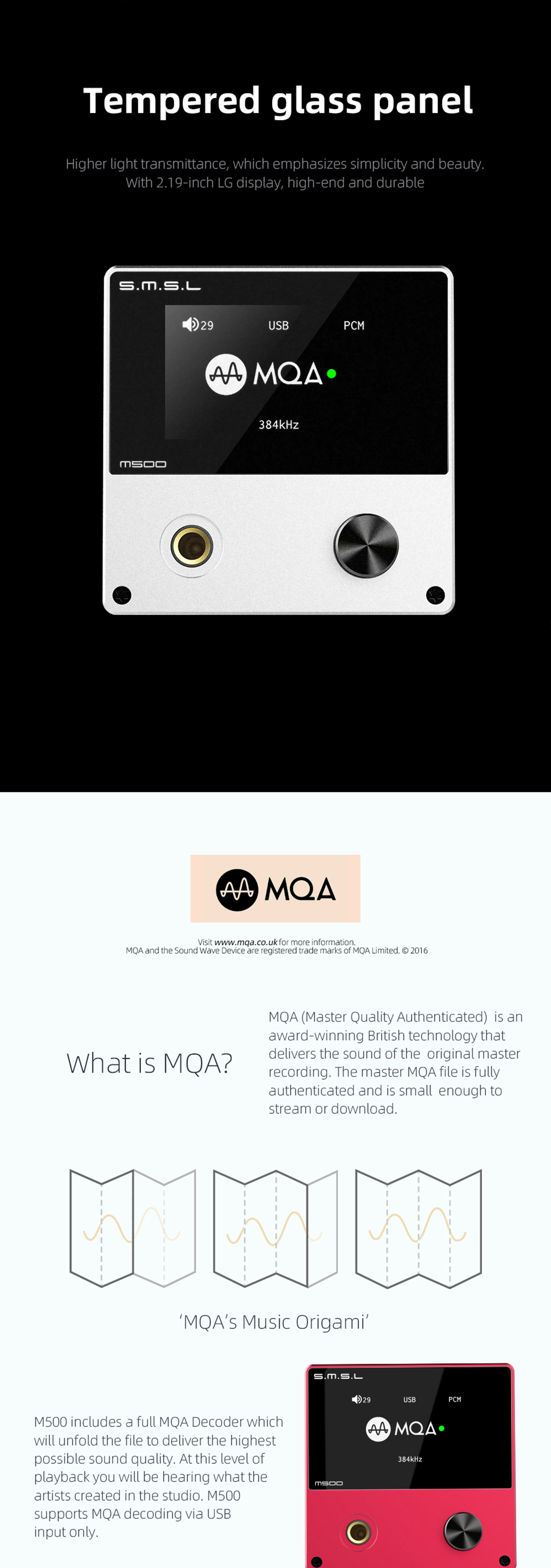 SMSL M500 MQA DAC& | Headphone Reviews and Discussion