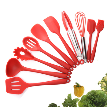 10 Pcs Heat Resistant Silicone Cookware Set Nonstick Cooking Tools Kitchen Baking Tool Kit Utensils Kitchen Accessories 1