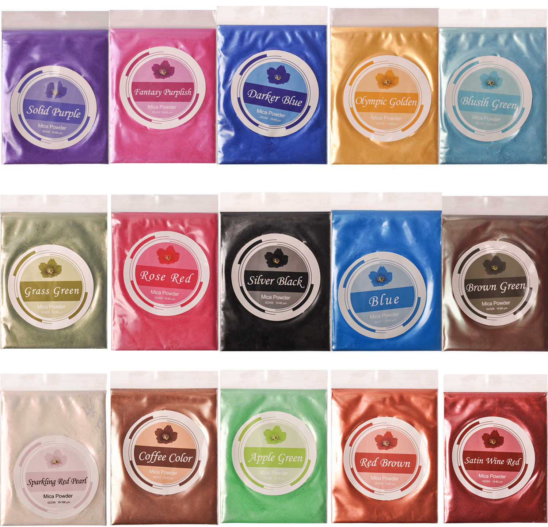 Teinture en résine époxy   Poudre de Mica, teinture de savon, mains, fournitures de fabrication de savon, teinture pour fard à paupières et lèvres 10 G