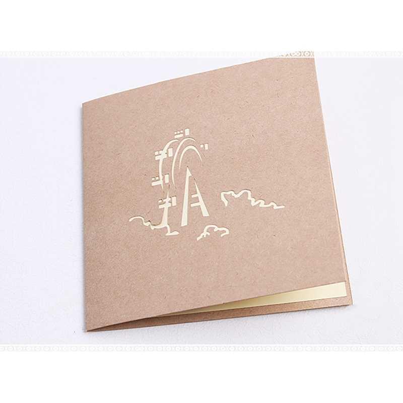 3D Erscheint Karte Schiff Karte Festival Geburtstag Hochzeit Einladungen Karte Urlaub Jahrestag Gruß Karte Stereo Karte Postkarte n