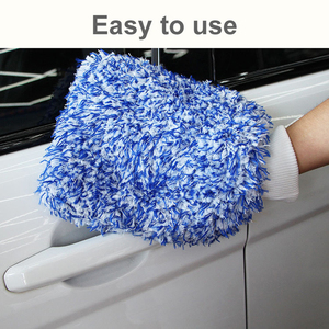 Image 5 - 1 Pcs Ultra Luxury Microfiber Car Wash Gloves Car Cleaning Tool Home use Multi function Cleaning Brush Detailing Never Scrat