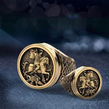 Anillo de dedo Punk para hombre, bonito anillo de Metal soldado romano con diseño de dragón, joyería de moda para hombre