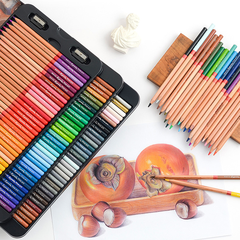24/36/48/72/100 Professional Oil Color Pencil Set Professional School Office Art Supplies Crayons Coloring Drawing Pencil Set image