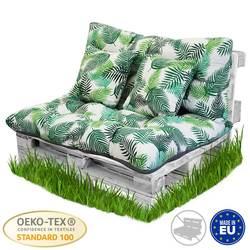 BCASE Kissen Palette Faser Rückenlehne für Paletten, Umfassen Sitz und Zurück, Ideal für Garten, Terrasse, farmyard und Balkon, Bambus