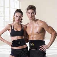 Rechargeable EMS Abdominal Muscle Toner Ab Belt Abs Stimulator Electronic Body Slimming Belt Vibration Fitness Massager Abdomen