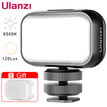 ULANZI VL28 6500K Mini LED Video Light GoPro Light Camera Light for Gopro 9 8 7 Hero iPhone 12 Pro Max 12 Mini 11 XS Fill Light