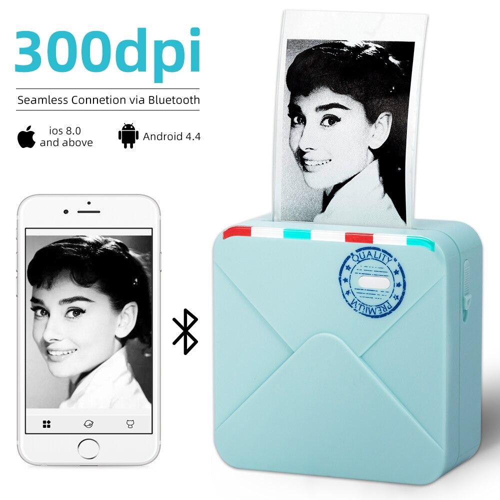Rosa Regalo Plan Journal Phomemo M02PRO Stampante Fotografica Termica Mini Stampante Portatile Bluetooth Tascabile Risoluzione di 300 dpi Compatibile con iOS e Android Creazione Artistica
