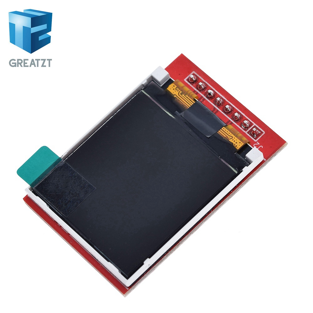 GREATZT 1PCS 5V 3.3V 1.44 Inch TFT LCD Display Module 128*128 Color Sreen SPI Compatible For Arduino Mega2560 STM32 SCM 51