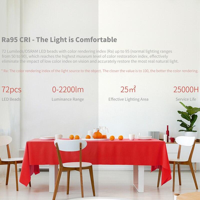 cheapest Yeelight JIAOYUE 480 Smart LED Ceiling Lamp Indoor Lighting 32W Support Voice Control Homekit Living Room Led Light Fixture