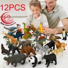 12 штук в партии мини животное моделирование динозавров морских