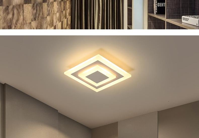 H516f608fdc7f43e79614a1bdfc282d2d5 Modern ceiling lights 12w for hallway balcony corridor Coffe white light lamps bedroom luminaria teto acrylic lamparas de techo