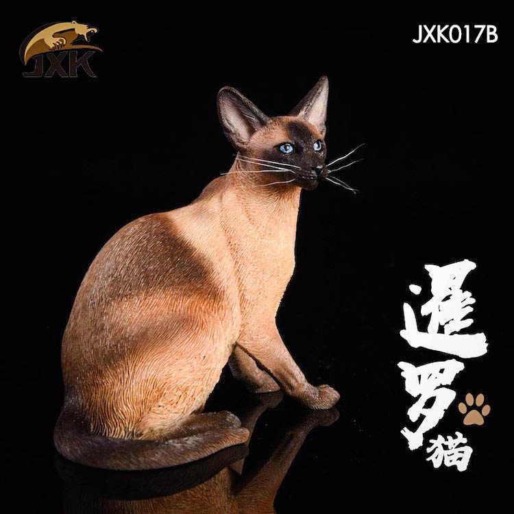 1/6 resina modelo animal jxk017 1/6 siamês gato siamês 3 cores animal de estimação agachamento versão figura soldado