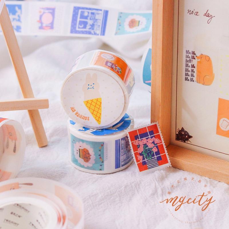 10 pcs diy japones papel decorativo fita 01