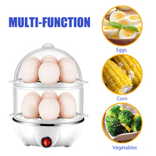 цена на Egg Tarts Electric Fast Egg Cooker Double Egg Stealing Knife Large Boiled Egg Cooker Automatic Steam Overheat Protection
