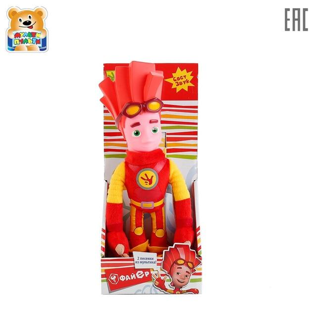 Мягкая кукла  Мульти-пульти Файер 27 см  (М/Ф ФИКСИКИ),  свет+звук