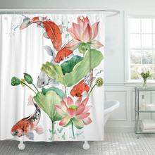 Shower-Curtain Fish-Watercolor Waterproof Flower Bathroom-Sets Polyester Animal-Asia