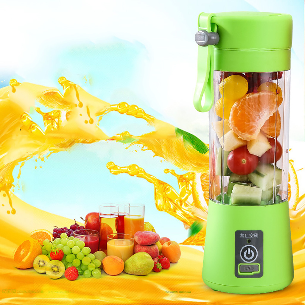 400ml  Mini Portable Electric Fruit Juicer USB Rechargeable Smoothie Maker Blender Machine Sports Bottle Juicing Cup #YL10