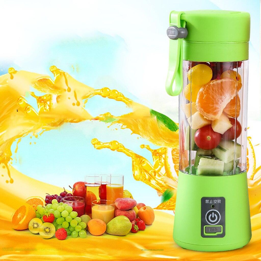 400ml Mini taşınabilir elektrikli meyve sıkacağı USB şarj edilebilir Smoothie makinesi Blender makinesi spor şişesi meyve suyu kupası # YL10