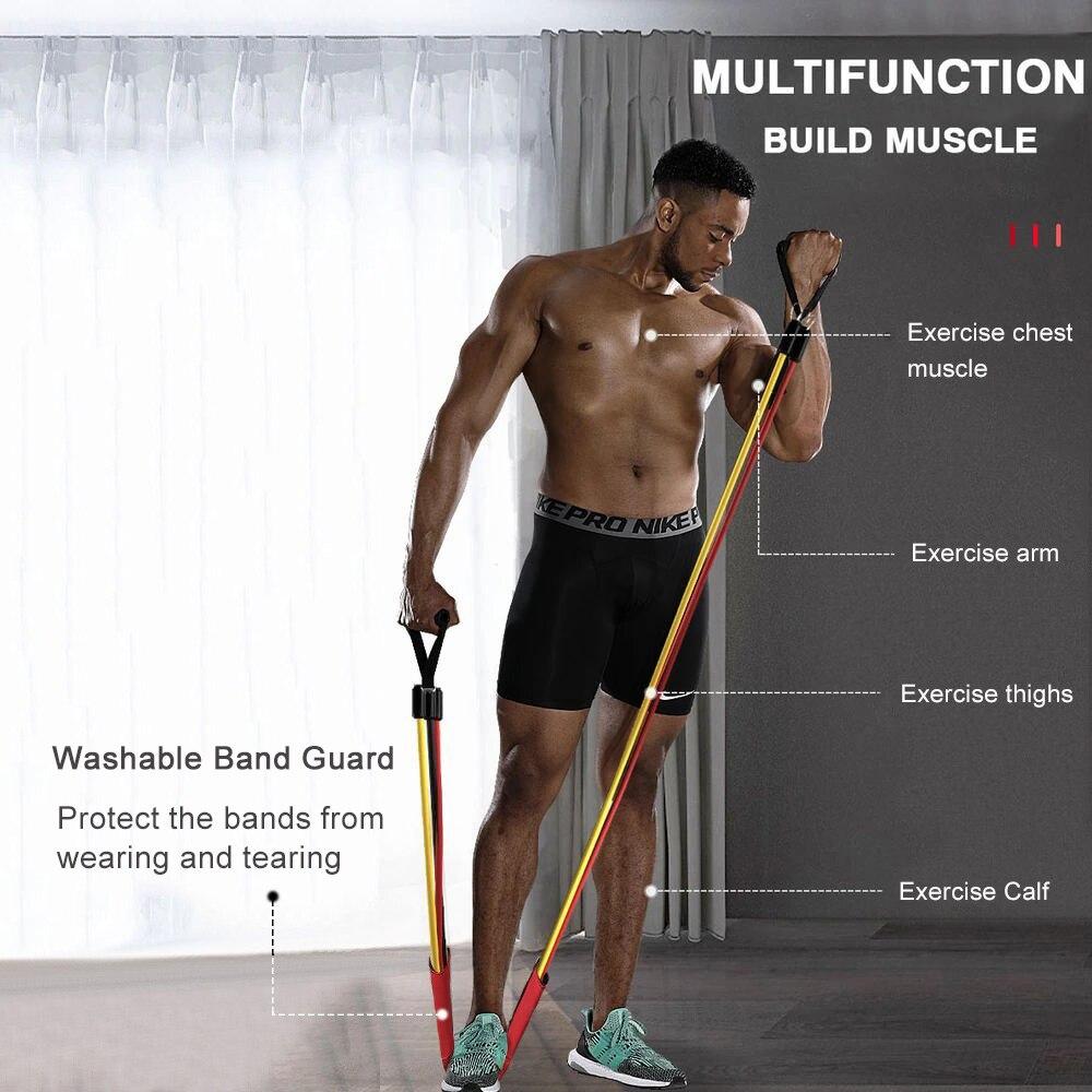 Набор эластичных резинок для фитнеса, 11 шт., расширитель для занятий йогой, Резиновая лента, растягивающаяся тренировка, домашние тренажерные залы, Тяговая веревка-1